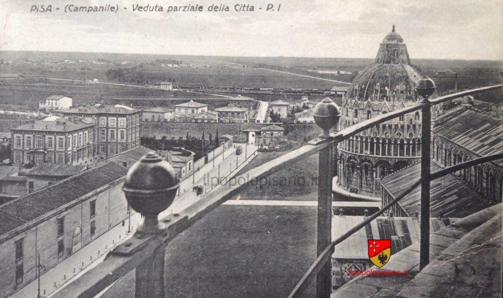 Veduta dal Campanile del Duomo, Anno 1927 Cartolina d'epoca